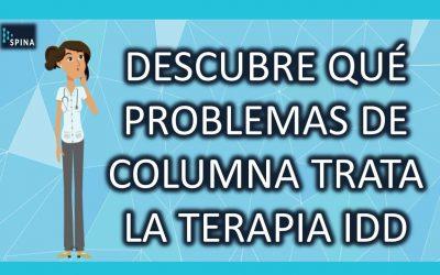 ¿Qué problemas de Columna Vertebral maneja la Terapia IDD?