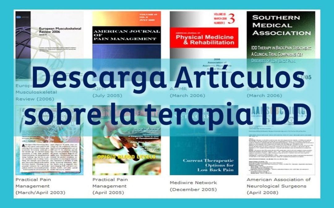 Descarga Artículos Científicos sobre IDD Therapy
